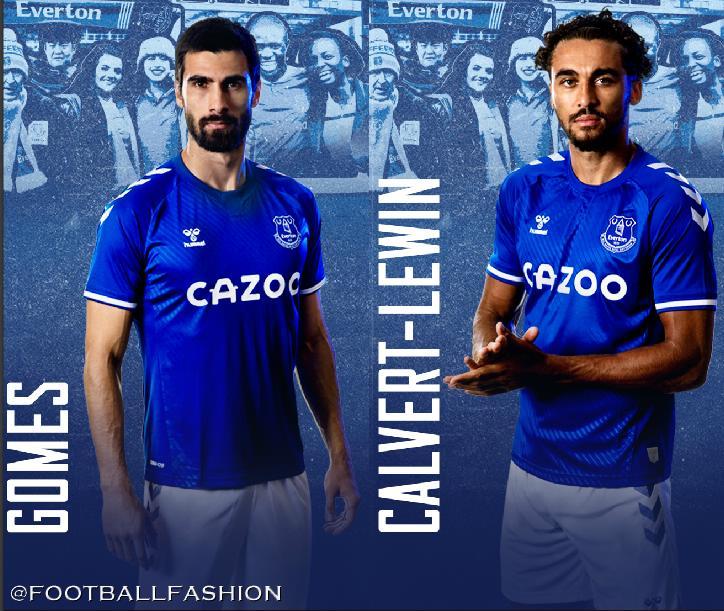 Everton Fc 2020 21 Hummel Home Kit Football Fashion