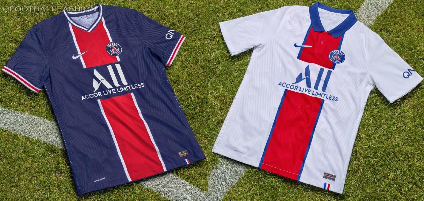 Paris Saint Germain 2020 21 Nike Home And Away Kits Football Fashion