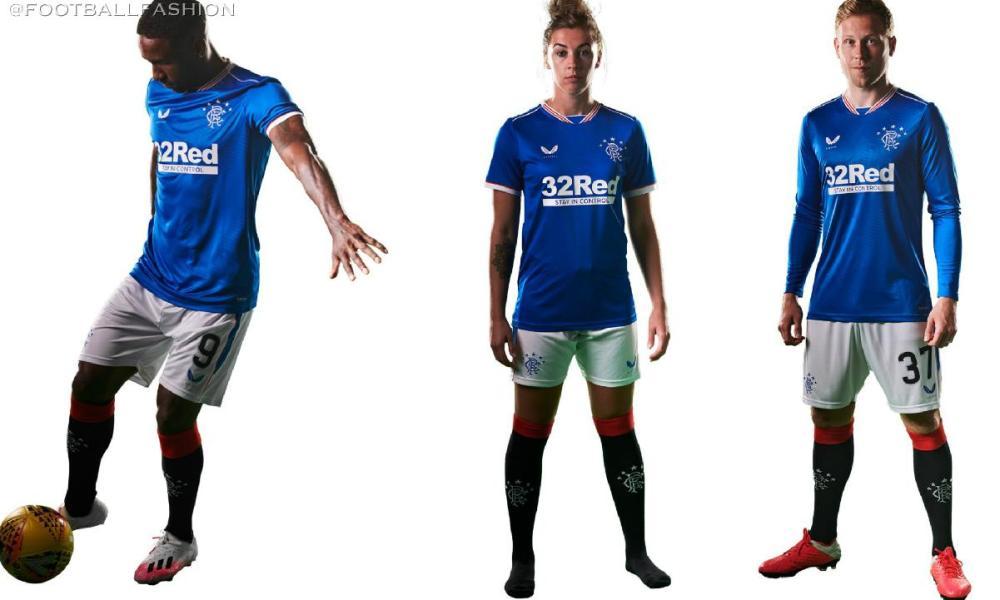 Rangers Football Club 2020 2021 Castore Home KIt, 2020-21 Soccer Jersey, 2020/21 Shirt