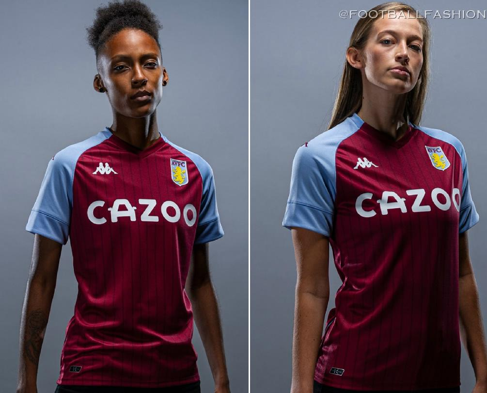 Aston Villa 2020 21 Kappa Home Kit Football Fashion Org