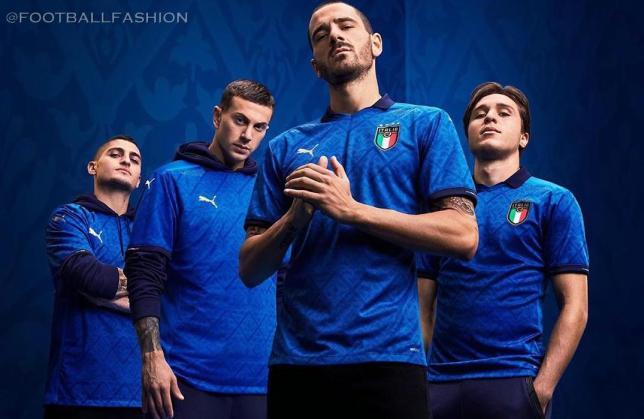 Italy 2020 2021 PUMA Home Football Kit, 2020-21 Soccer Jersey, 2020/21 Shirt, Maglia, Gara, Camiseta, Camisa