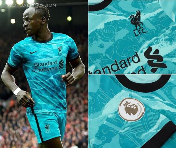 Liverpool FC 2020/21 Nike Away Football Kit, 2020-21 Soccer Jersey, 2020/21 Shirt, Camiseta, Camisa, Maillot, Trikot