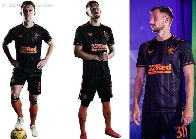 Rangers FC 2020 2021 Castore Third Football Kit, 2020-21 Soccer Jersey, 2020/21 Shirt