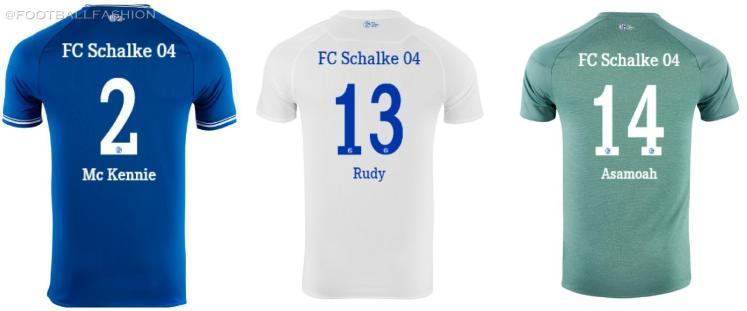 Schalke 04 2020 2021 Umbro Home, Away and Third Soccer Jersey, 2020-21 Football Kit, 2020/21 Shirt, Trikot