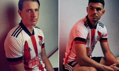 Sheffield United 2020 2021 adidas Home Football Kit, 2020-21 Soccer Jersey, 2020/21 Shirt