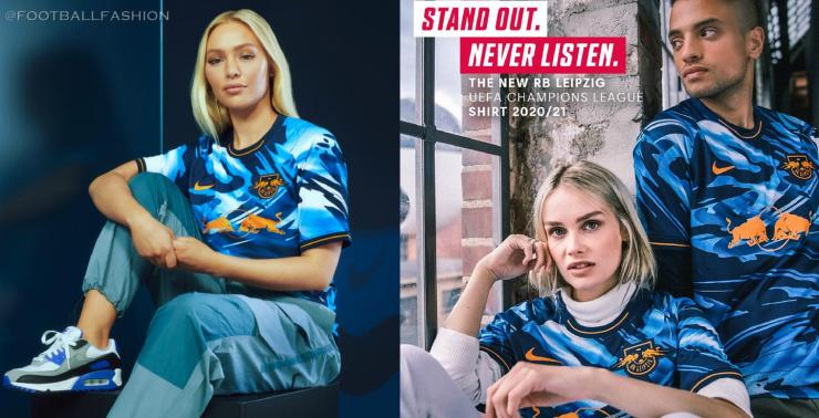 RB Leipzig 2020 2021 Nike Third Champions League Football Kit, 2020-21 Shirt, 2020/21 Soccer Jersey, Trikot