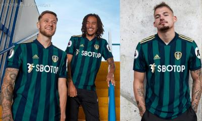 Leeds United 2020 2021 adidas Away Football Kit, 2020/21 Soccer Jersey, 2020-21 Shirt, Camiseta de Futbol, Trikot, Maillot