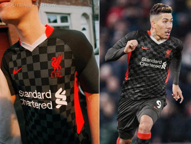 Liverpool FC 2020/21 Nike Black Third Champions League Football Kit, 2020-21 Soccer Jersey, 2020/21 Shirt, Camiseta, Camisa, Maillot, Trikot