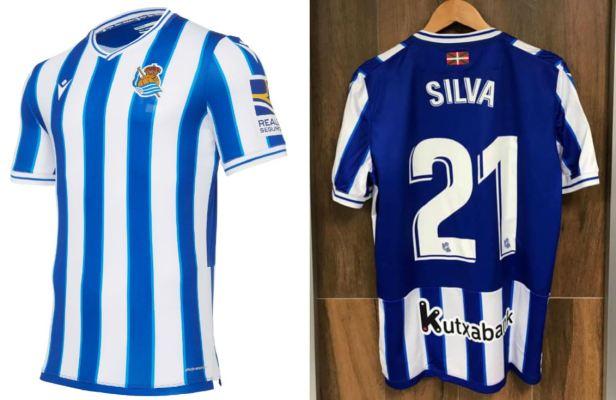 Real Sociedad 2020 2021 Macron Home and Away Football Kit, 2020-21 Soccer Jersey, 2020/21 Shirt, Camiseta de Futbol