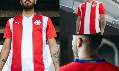 Paraguay 2020 2021 PUMA Home and Away Football Kit, 2020-21 Soccer Jersey, 2020/21 Shirt, Camiseta de futbol