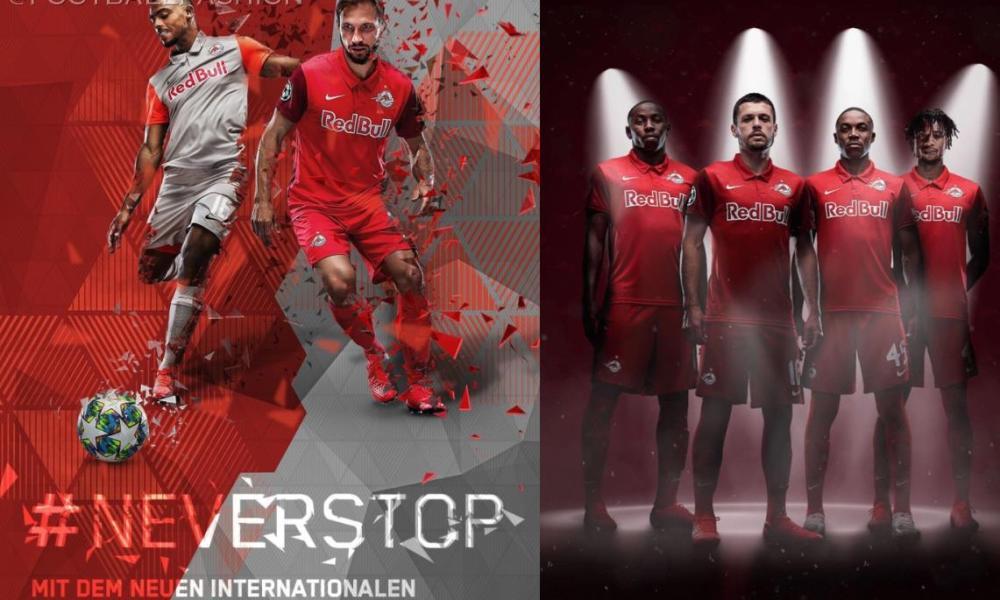 Red Bull Salzburg 2020 2021 Nike European UEFA Champions League Home and Away Football Kit, 2020-21 Soccer Jersey, 2020/21 Shirt, Trikot