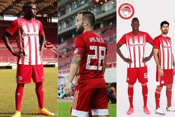 Olympiacos FC 2020 2021 adidas Football Kit, 2020-21 Soccer Jersey, 2020/21 Shirt