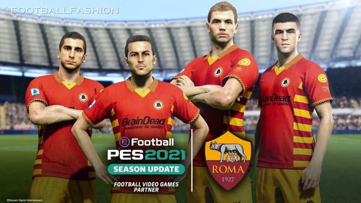 AS Roma x Brain Dead 2020 2021 Fourth Football Kit, 2020-21 Shirt, 2020/21 Soccer Jersey, Maglia, Gara