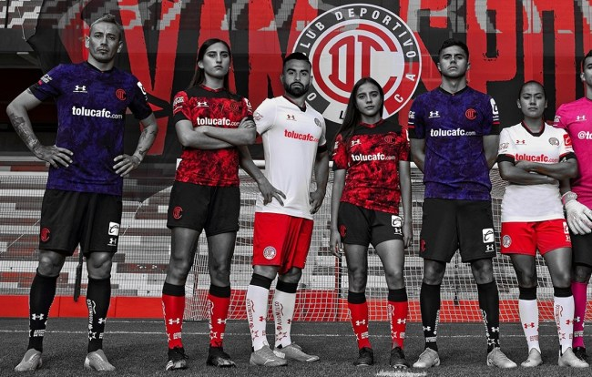 Toluca FC 2021 Under Armour Football Kit, Soccer Jersey, Shirt, Camiseta de Futbol
