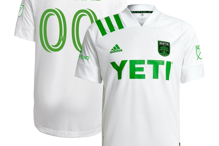 Austin FC 2021 adidas Away Soccer Jersey, 2020-21 MLS Football Kit, 2020/21 Shirt, Camiseta de Futbol