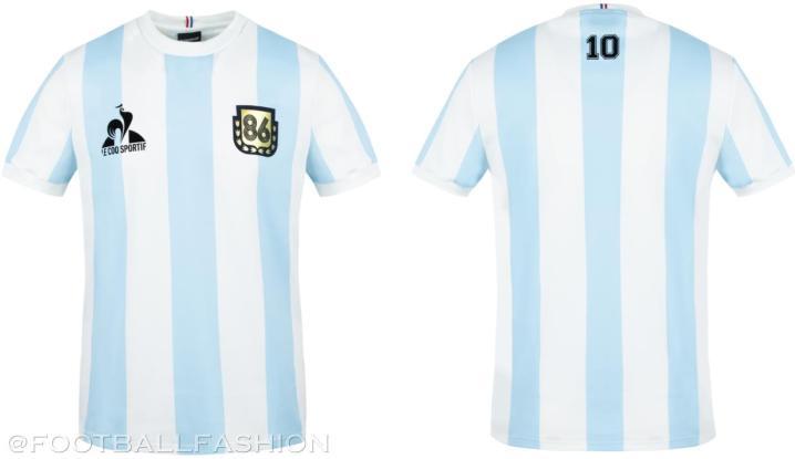 Argentina le coq sportif 1986 Maradona Legends Soccer Jersey, Football Kit, Shirt, Camiseta de Futbol Retro