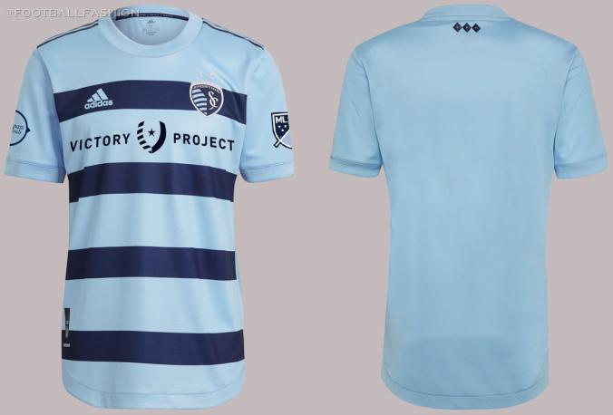 Sporting Kansas City 2021 adidas Home Soccer Jersey, Football Kit, Shirt, Camiseta de Futbol MLS