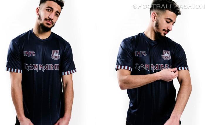 West Ham x Iron Maiden 2021 Away Football Kit, Soccer Jersey, Shirt