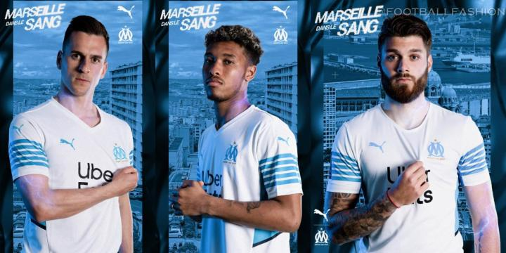 Olympique Marseille 2021 2022 PUMA Home Kit, 2021-22 Soccer Jersey, 2021/22 Shirt, Maillot