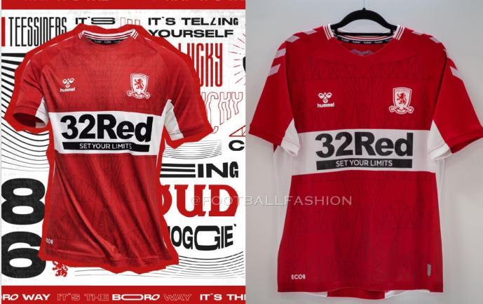 Middlesbrough FC 2021 2022 hummel Home Football Kit, 2021-22 Soccer Jersey, 2021/22 Shirt