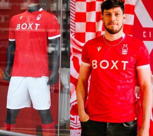 Nottingham Forest 2021 2022 Macron Home Football Kit, 2021-22 Soccer Jersey, 2021/22 Shirt