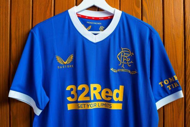 Rangers FC 2021 2022 Castore Home Football Kit, 2021-22 Shirt, 2021/22 Soccer Jersey