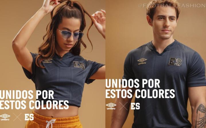 El Salvador 2021 2022 Umbro Black Third Football Kits, 2021/22 Soccer Jersey, 2021-22 Shirt, Camiseta de Futbol 21/22