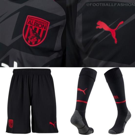 West Bromwich Albion 2021 2022 PUMA Blaxk Away Football Kit, 2021-22 Soccer Jersey, 2021/22 Shirt