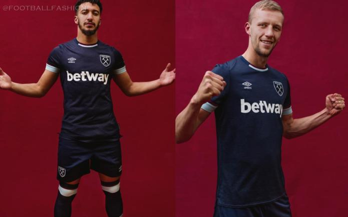 West Ham 2021 2022 Umbro Third Football Kit, 2021-22 Soccer Jersey, 2021/22 Shirt, Camiseta 21-22, Maillot 21/22