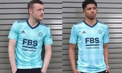 Leicester City 2021 2022 adidas Mint Green Away Football Kit, 2021/22 Soccer Jersey, 2021-22 Shirt