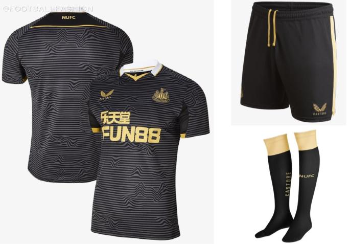 Newcastle United 2021 2022 Castore Black Away Football Kit, 2021-22 Soccer Jersey, 2021/22 Shirt, Camiseta 21-22, Maillot 21/22, Trikot, Maglia