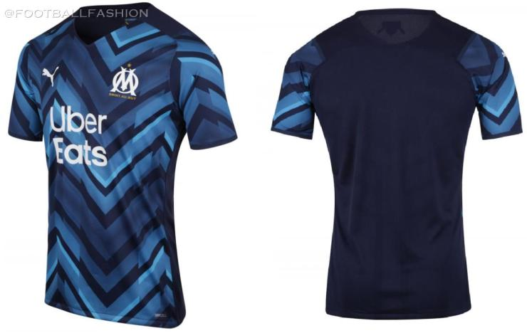 Olympique Marseille 2021 2022 PUMA Away Kit, 2021-22 Soccer Jersey, 2021/22 Shirt, Maillot 21-22