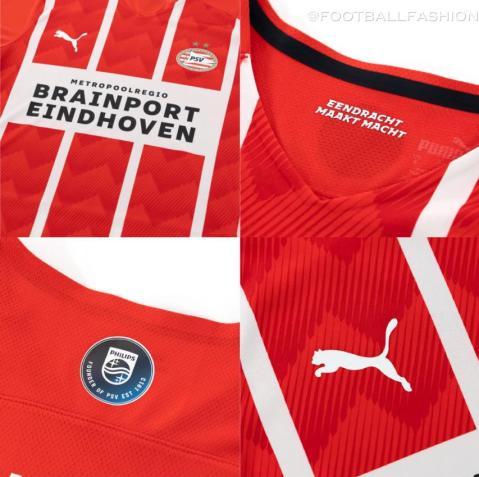 PSV Eindhoven 2021 2022 PUMA Home Football Kit, 21/22 Soccer Jersey, 2021-22 Shirt, 2021/22 Thuisshirt