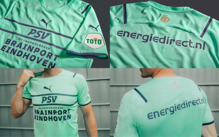PSV Eindhoven 2021 2022 PUMA Third Football Kit, 21/22 Soccer Jersey, 2021-22 Shirt, 2021/22 Derde Shirt
