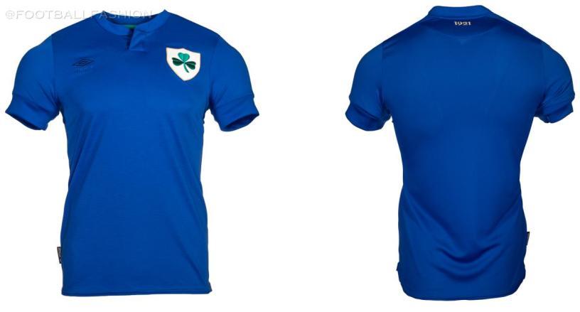 Republic of Ireland 2021 Umbro Centenary Soccer Jersey, 100th Anniversary Football Kit, Shirt