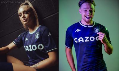 Aston Villa 2021 2022 Kappa Blue Third Football Kit, 2021-22 Soccer Jersey, 2021/22 Football Kit, Camiseta 21-22