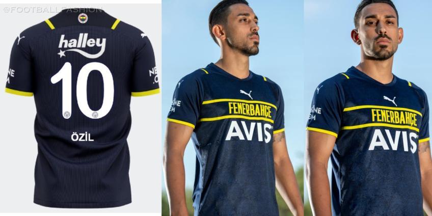 Fenerbahçe 2021 2022 PUMA Third 21-22 Football Kit, 2021/22 Soccer Jersey, 2021-2022 Shirt, Formasi, Formalari, Lacivert Forma