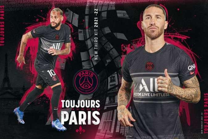Paris Saint-Germain 2021 2022 Nike Black Third Football Kit, 2021/22 Soccer Jersey, 2021-22 Shirt, Maillot, Camiseta 21/22, Camisa, Trikot