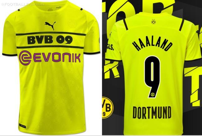 Borussia Dortmund 2021 2022 PUMA Third Cup Football Kit, 2021-22 Soccer Jersey, 2021/22 Shirt, Trikot, Cuptrikot 21/22