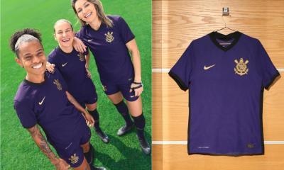 Corinthians 2021 2022 Nike Purple Third Football Kit, 2021/22 Soccer Jersey, 2021-22 Shirt, Camisa 21/22