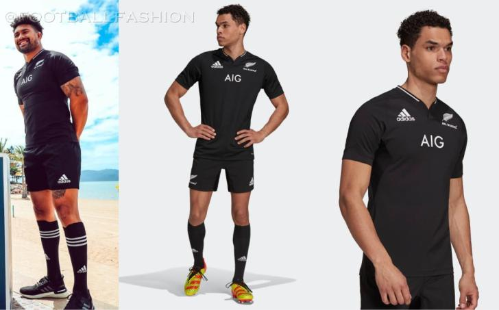 New Zealand All Blacks 2021 2022 adidas Home and Away Rugby Jersey, 2021-22 Shirt, 2021/22 Kit