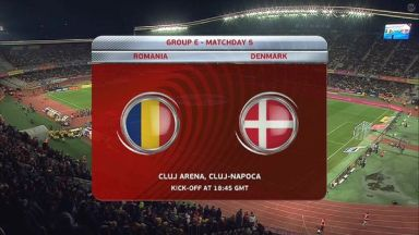 Full match: Romania vs Denmark