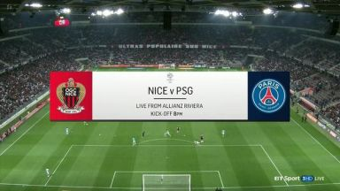 Full match: Nice vs PSG