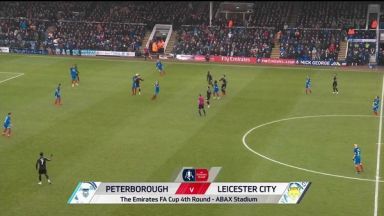 Full match: Peterborough United vs Leicester City