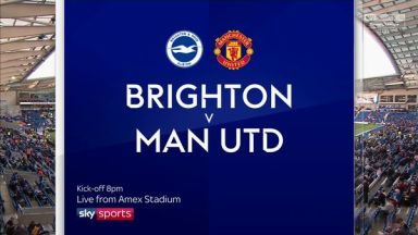 Full match: Brighton & Hove Albion vs Manchester United
