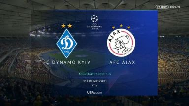 Full match: Dynamo Kyiv vs Ajax
