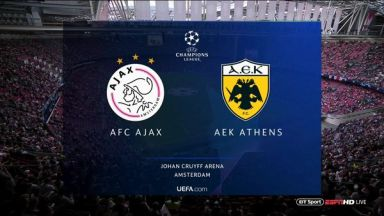 Full match: Ajax vs AEK Athens