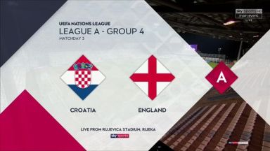 Full match: Croatia vs England