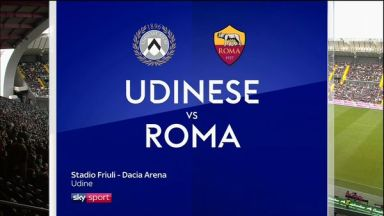 Full match: Udinese vs Roma