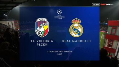 Full match: Viktoria Plzen vs Real Madrid